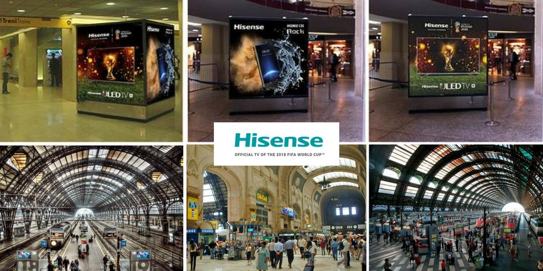 Le principali stazioni ferroviarie d italia si tingono di for Hisense italia