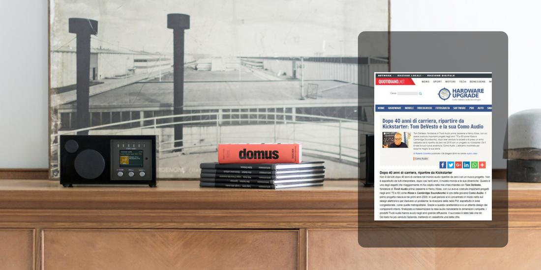 Dopo 40 anni di carriera, ripartire da Kickstarter: Tom DeVesto e la sua Como Audio
